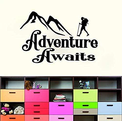 Abenteuer Warten Auf Applique Camper Boots Trail Zu Hause Schlafsack Pvc Wandaufkleber Wohnzimmer Schlafzimmer Kinderzimmer 65X43Cm