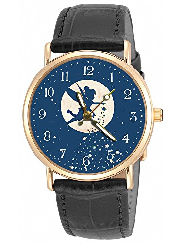 Hermoso reloj de pulsera para niñas con diseño de Campanilla original de hadas mágico azul...