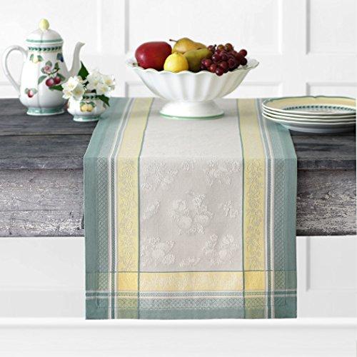 Villeroy & Boch Fleurence Jacquard Baumwolle Tischläufer 40,6 x 182,9 cm, Mehrfarbig