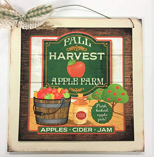 Tasty Apples Wooden Kitchen Wall Art Sign