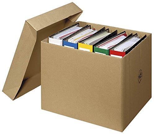 20 Kartons mit abnehmbarem Deckel 2-wellig / 43,8 x 38,5 x 33,6 cm (LxBxH)