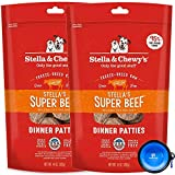 Stella & Chewy's Freeze Dried Raw Dinner Patties Dog Food 2 Pack (28oz Total) Bundle Including Hotspot Pet Travel Bowl - Made in The U.S.A (Beef)