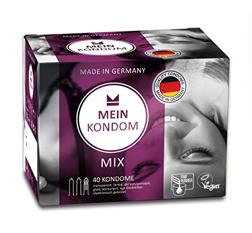 MEIN KONDOM 40er Box Mix Kondome fair gehandelt und Vegan - Made in Germany