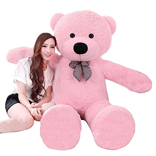 MorisMos Giant Teddy Bear Stuffed Animals Plush Toy for Girlfriend Kids (Pink, 47 Inches)