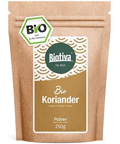Koriander gemahlen (250g, Bio) - Hochwertigste Bio-Qualität aus dem Mittelmeerraum - 100% Bio-zertifiziert in Deutschland (DE-ÖKO-005) - Perfekt zu indischen und asiatischen Gerichten