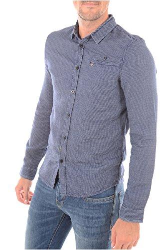 Guess Jeans Hemden Stadt–m63h40W7q70–Herren Gr. L, blau