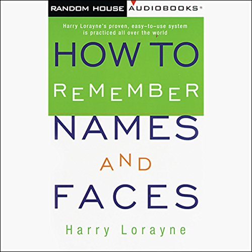 How to Remember Names and Faces audiobook cover art