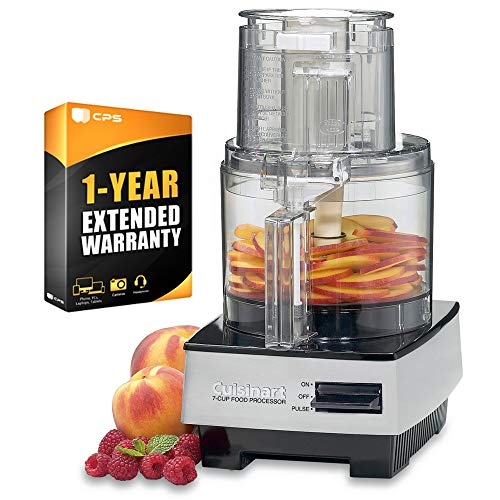 Great Price! Cuisinart DFP-7BCY 7 Cup Food Processor Bundle with 1 Year Extended Warranty