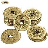 franktea 200 Piezas De Monedas De Cobre Antiguas por Cinco Emperadores Chinos