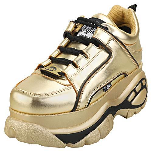 Buffalo Damen 1339-14 2.0 Plateau-Schuhe Schuhe Gold 39 EU