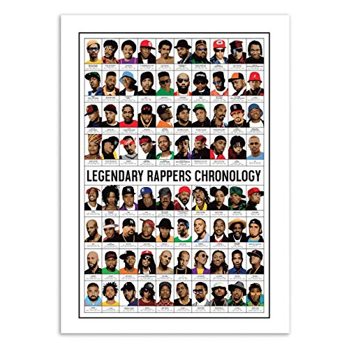Wall Editions Art-Poster 50 x 70 cm - Legendary Rappers Chronology - Olivier Bourdereau