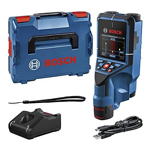 Bosch Professional 12V System Wallscanner D-tect 200 C (12-V-Akku, Ortung von (nicht-)spannungsführenden Leitungen, Metall, Kunststoffrohren, Holzteilen und Hohlräumen, USB-C™-Kabel, L-BOXX)