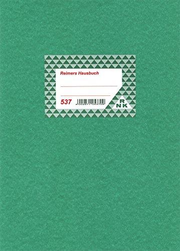 RNK 537 - Hausbuch mit einer Seite für jeden Monat, 32 Seiten, DIN A4