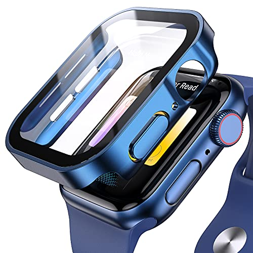 Applaro for Apple Watch Case 40mm Series 6/SE/5/4 with Screen Protector, Waterproof Hard PC Ultra-Thin Bumper HD Clear Anti-Fog All Around Protective Cover for iWatch 40mm Blue