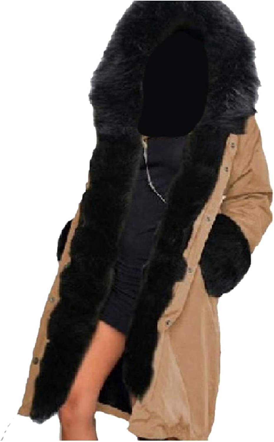 Baseby Women's Quilted with Faux Fur Hood Warm Brumal Parkas Long Coats