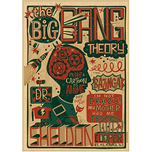 JMHomeDecor The Big Bang Theorytbbt Poster Sheldon Jim Parsons Classic Comedy Drama Film Canvas Painting Poster Frameless Painting 50X70Cm (H:4386)