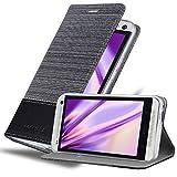 Cadorabo Funda Libro para HTC One M7 en Gris Negro - Cubierta Proteccíon con Cierre Magnético, Tarjetero y Función de Suporte - Etui Case Cover Carcasa
