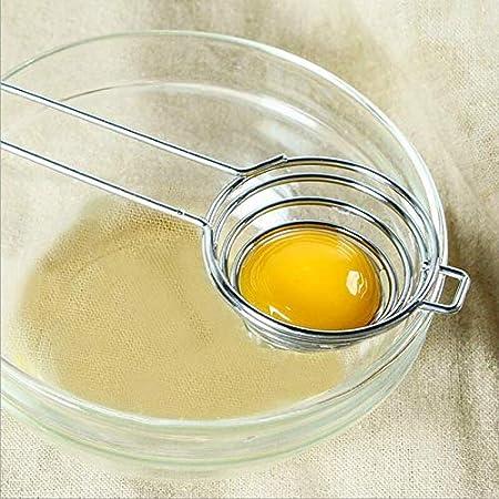 Separador de la clara del huevo, herramienta de cocina del acero inoxidable del separador del huevo (2PCS)