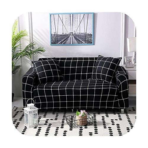 Funda de sofá Beautify Spandex Envoltura Estrecho Todo Incluido Cubierta Del Sofá Funda 1/2/3/4 plazas Sillón Muebles Protector-Color 19-1-Asiento 90-140cm