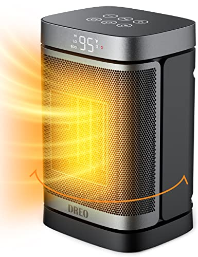 Dreo Space Heater – 70°Oscillating Portable Heater with Thermostat, 1500W PTC Ceramic Heater with 4 Modes, 12h Timer, Safety & Fast - Quiet Heat, Small Electric Heaters for Indoor Use, Bedroom, Office