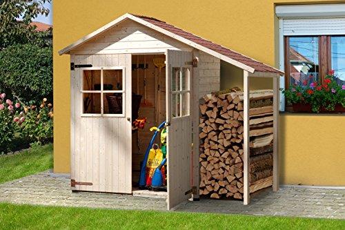 weka Garten-/Terrassenschrank 357 A Gr.2 Satteldach, 14 mm, DT, Schleppdach 50 cm