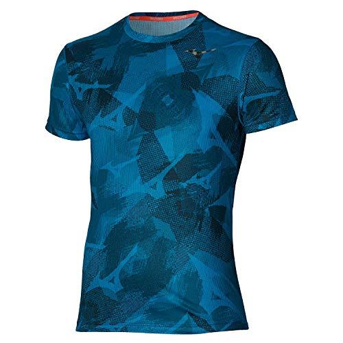 Mizuno Aero T-Shirt, Blu di Mykonos, S Uomo