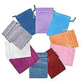 Bolsas de arpillera,20 piezas de color mixto mini bolsas de lino pequeñas con...