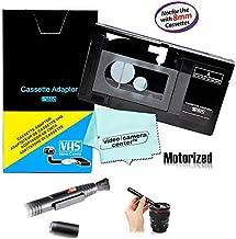 Motorized VHS-C Cassette Adapter For JVC C-P7U CP6BKU C-P6U,Panasonic PV-P1,RCA VCA115 + LensPen Lens Cleaner + 1 VCC113 Micro-Fiber Cloth™