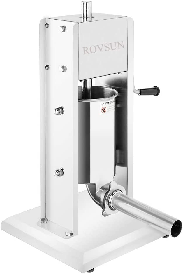 ROVSUN 7LBS 3L Vertical Stainless Steel D Sausage Outlet sale feature Stuffer New Shipping Free Shipping Maker
