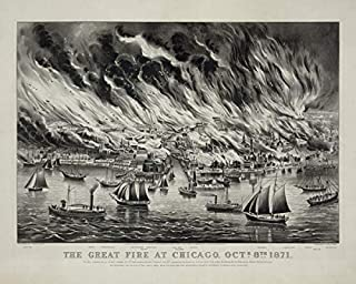 ClassicPix Photo Print 8x10: The Great Fire at Chicago, Octr. 8th 1871