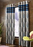 Decoscapes Polyester Jute and Jacquard Blend Heavy 80% Blackout Room Darkening Eyelet Tree