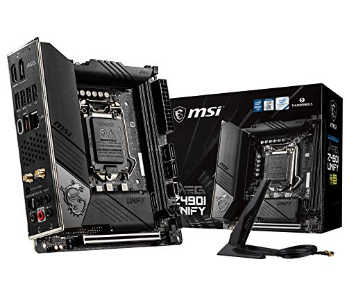 MPG Z490I Unify - Placa Base Performance Gaming (10th Gen Intel Core, LGA 1200 Socket, Doble Ranura M.2, Thunderbolt 3 Type-C, Wi-Fi 6)