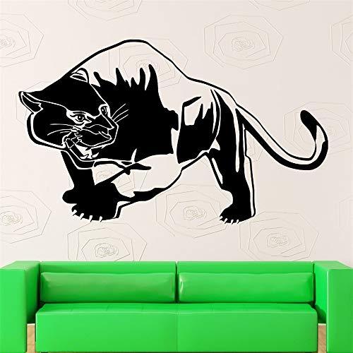 Tiger Panther Muurstickers Raubtier Dier Tribal Decor Vinyl Aufkleber rot 56cm X88cm