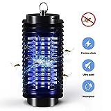 Elektrischer Insektenvernichter, UV LED Mückenvernichter Mückenfalle Insektenvernichter Mückenlampe Elektro-Fliegenfalle Elektrischer Insektenfalle für Innen und Außeneinsatz ,Büro ,Garten (Schwarz)