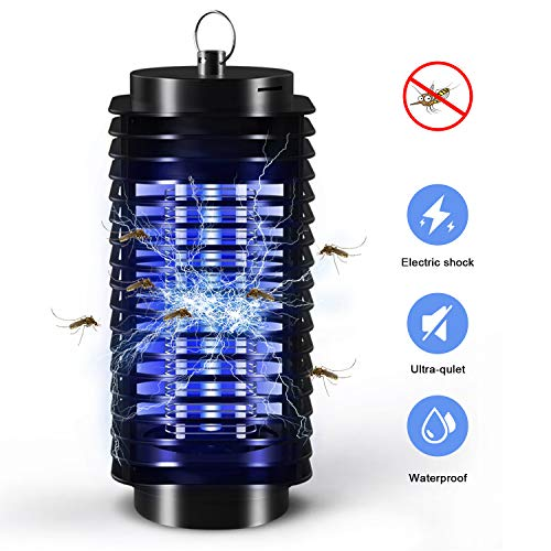 QUTAII Lámpara Mosquito Electrico, Lámpara Antimosquitos Portátil Repelente de Mosquitos Trampa de Insectos Mosquito Killer Trampa de Mosquitos para Dormitorio, Salón (10X4CM)