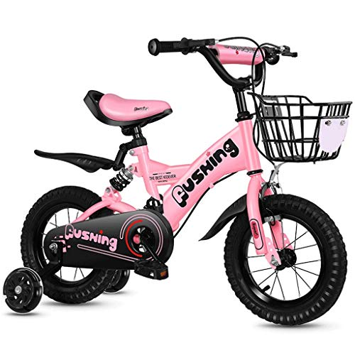 Xiaoping Kinderfahrrad 2-3-4-6-7 Jahre alte Junge Mädchen Fahrrad 12-16 Zoll Kinderfahrrad (Color : 1, Size : 16in)
