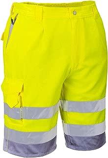 Hi-Vis P/C Shorts Cargo Visibility Reflective Summer Cool Work Wear Pants ANSI E
