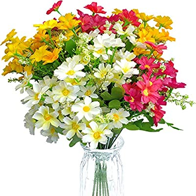 EverWin Artificial Fake Flowers Daisies Arrange...