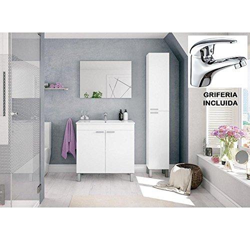 Mueble de Baño con Lavabo de PMMA (NO clásica cerámica) + Espejo...