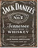 New Jack Daniels Whiskey 16' x 12.5' (D1916) Aged Appearance Advertising Tin Sign