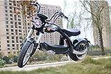 ES-TOYS Patinete eléctrico Coco Bike E-Chopper con permiso de circulación hasta 48 km/h rápido – aprox. 40 – 45 km de alcance, 60 V | 2000 W | batería de 28 Ah – color negro