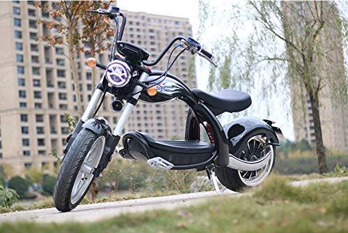 ES-TOYS Patinete eléctrico Coco Bike E-Chopper con permiso de circulación hasta 48...