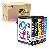 Office Helper Reemplazo de Cartucho de Tinta Compatible para Epson 29XL for Epson Expression Home XP-235 XP-245 XP-247 XP-330 XP-332 XP-335 XP-342 XP-345 XP-430 XP-432 XP-435 (5 Paquete)