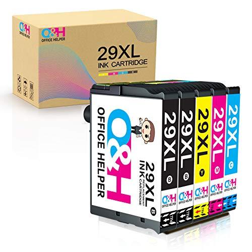 Office Helper Cartucho de Tinta Compatible para Epson 29XL Reemplazo for Epson29XL Expression Home XP-235 XP-245 XP-255 XP-247 XP-332 XP-330 XP-335 XP-342 XP-345 XP-430 XP-432 XP-435 (5 Paquete)