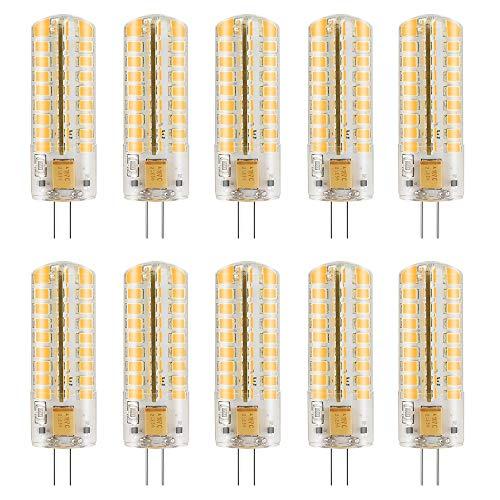 MENGS 10 Stück Dimmbar G4 LED Lampe 7W AC/DC 12V Kaltweiß 6500K 72x2835 SMD Mit Silikon Mantel