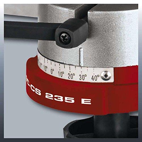 Einhell Affûteuse de chaîne de tronçonneuse électrique GC-CS 235 E (235 W, Epaisseur de la meule 3,2 mm, Dispositif de serrage, Éclairage, Tête d'affûtage inclinable, Livrée avec 1 meule abrasive)
