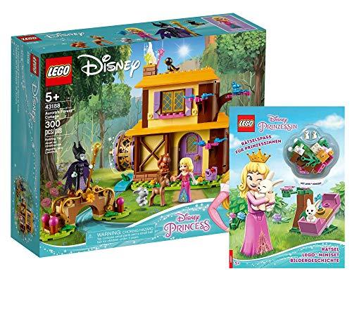 Collectix Lego Set – Disney Auroras Casita en el bosque (43188) + Disney Atraicionamiento para princesas (cubierta blanda), set de regalo a partir de 5 años