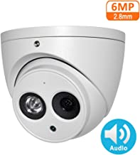6MP POE IP Camera IPC-HDW4631C-A 2.8mm Indoor Outdoor Dome Security Camera with Audio Built-in Mic, IR Night Vision 50m, H.265, IP67, WDR, 3D DNR, Onvif
