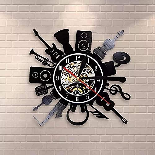 chazuohuaile Co.,ltd Reloj De Pared Guitarra Eléctrica Led Reloj De Pared con...