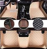 Muchkey Alfombrillas Coche para Mitsubishi Lancer EX Lancer Galant Grandis I-miev ASX Outlander Pajero L200 Personalizadas Alfombras Tapete Beige